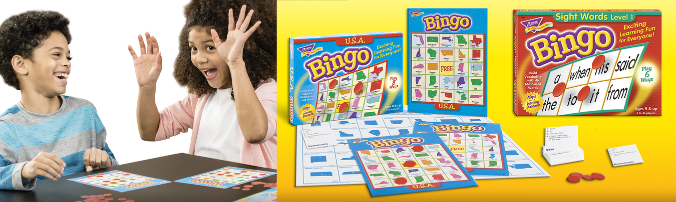 Bingo learning games made in USA