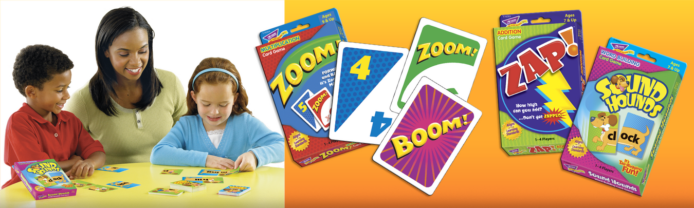 Learning fun card games made in USA