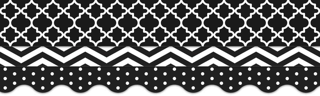 Black and white classroom theme bulletin board decorations