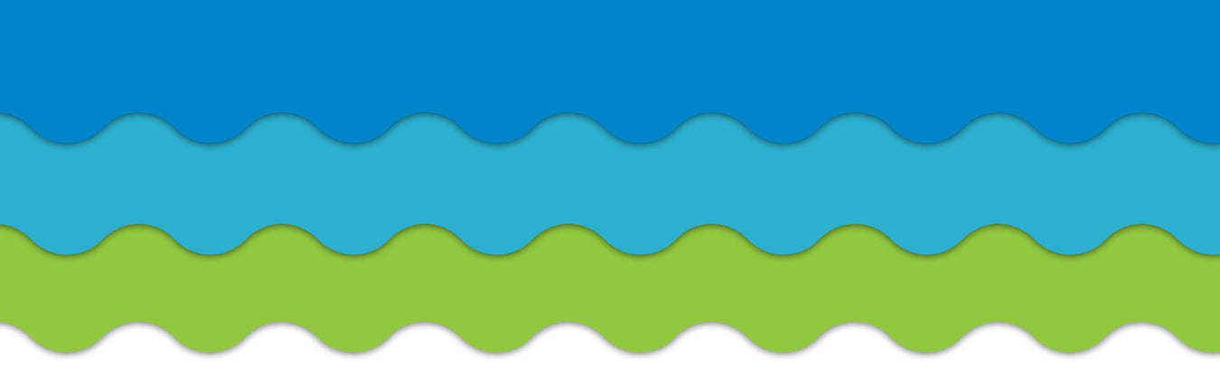 Blue and lime classroom theme bulletin board decorations