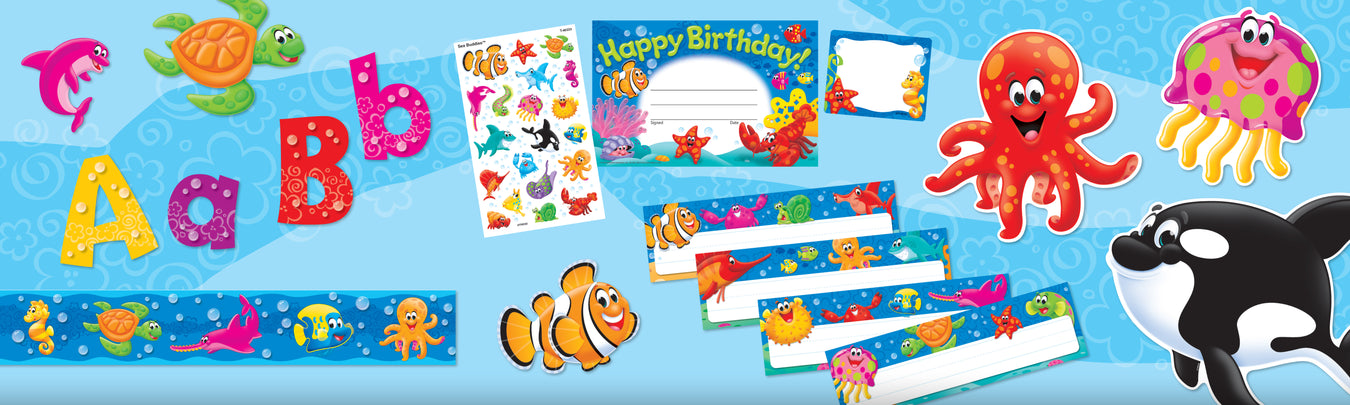 Sea Buddies ocean underwater classroom theme decorations and bulletin boards