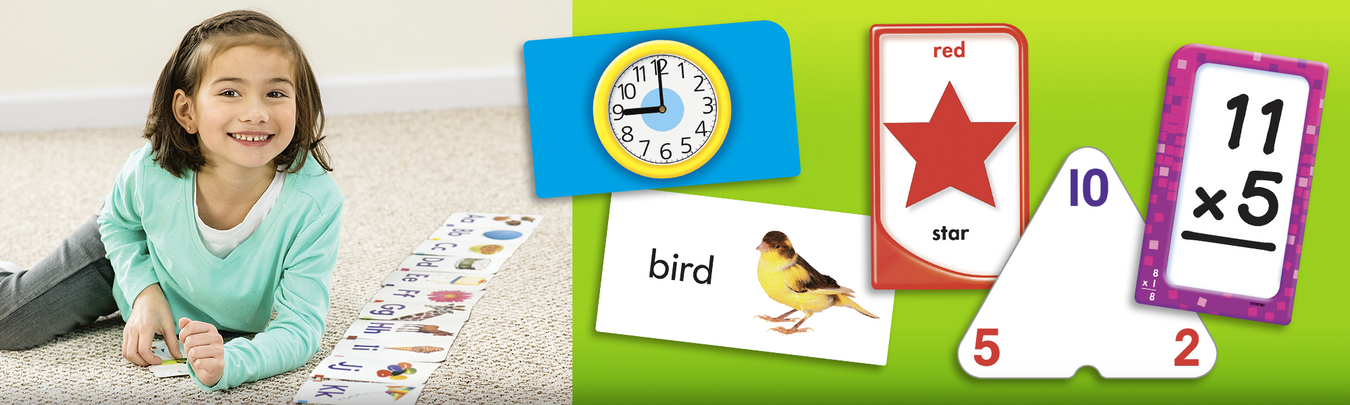 Flash cards for math, shapes, colors, phonics, sight words and more