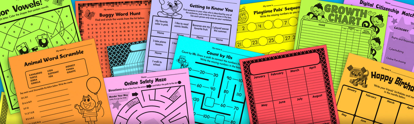 Free printables for teachers print your own worksheets for elementary school and homeschoolers