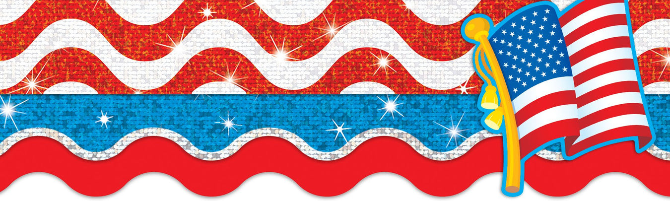 4th of July red, white, and blue bulletin board paper decorations