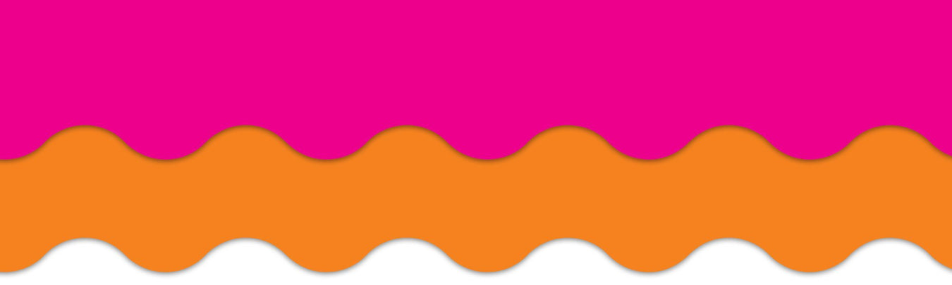 Hot pink and orange classroom theme bulletin board decorations