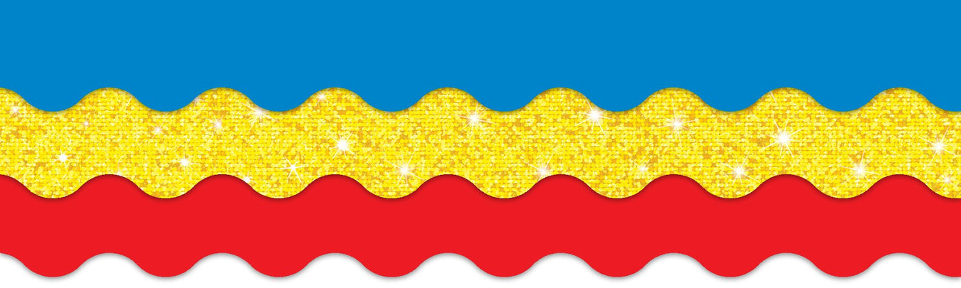 Red, yellow, and blue classroom primary color theme decorations for bulletin boards