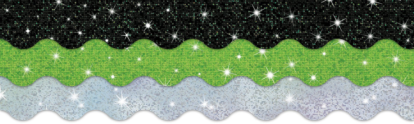 Sparkle bulletin board borders and classroom decorations