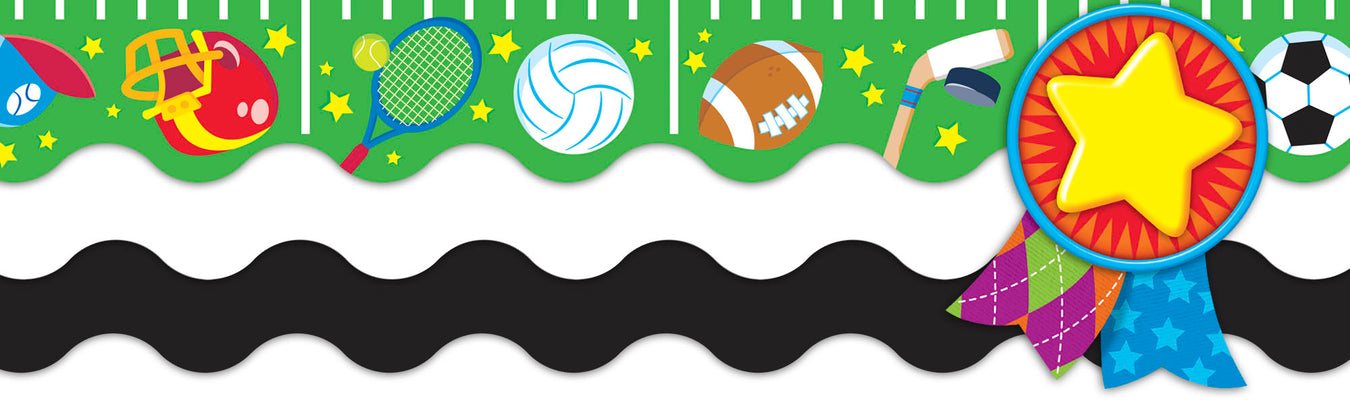 Sports theme classroom bulletin board decorations