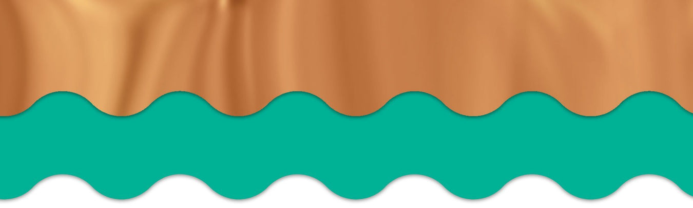 Teal and copper bulletin board decorations for classroom theme. 6th grade classroom
