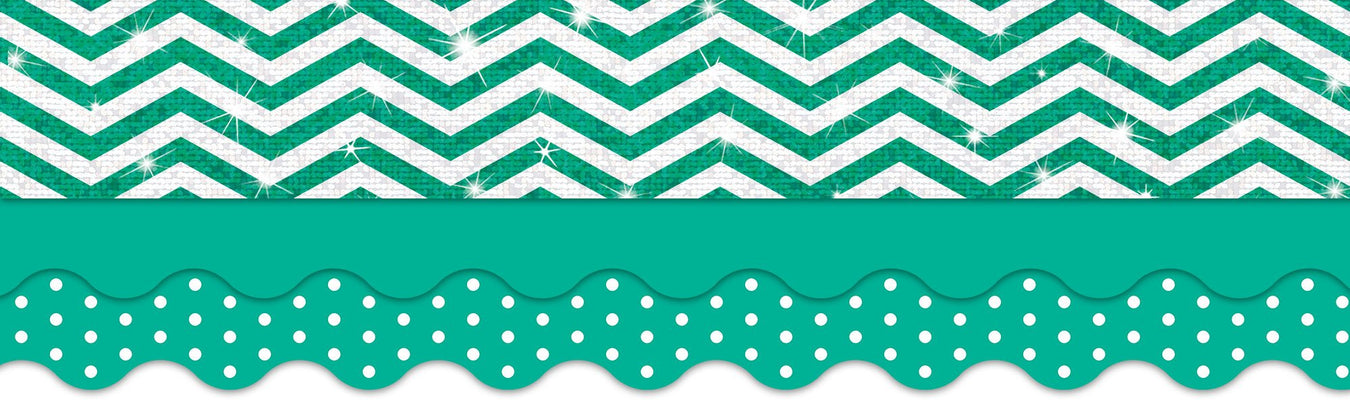 Teal and white classroom theme bulletin board decorations