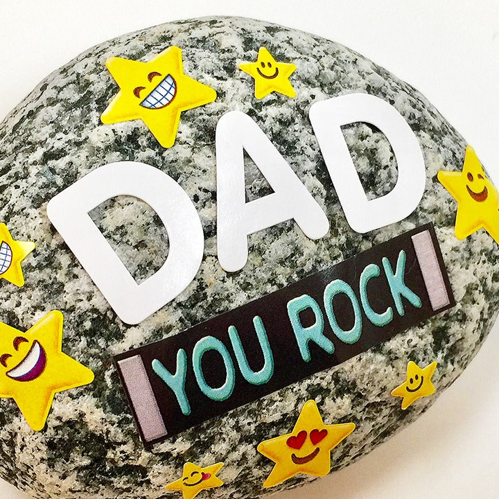 DIY Dad rocks for father's Day