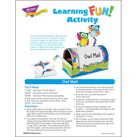 Owl Mail Learning Fun Activity