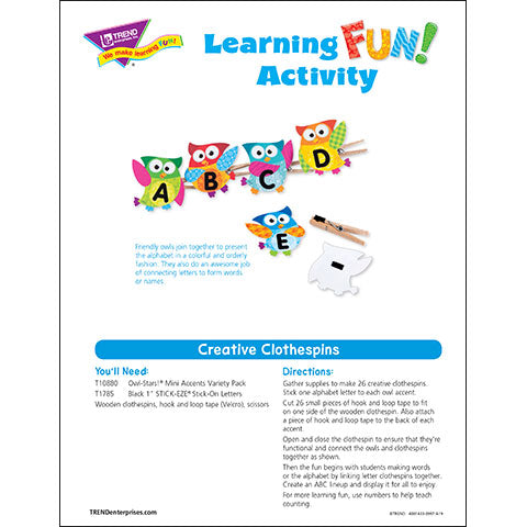 Creative Clothespins Learning Fun Activity
