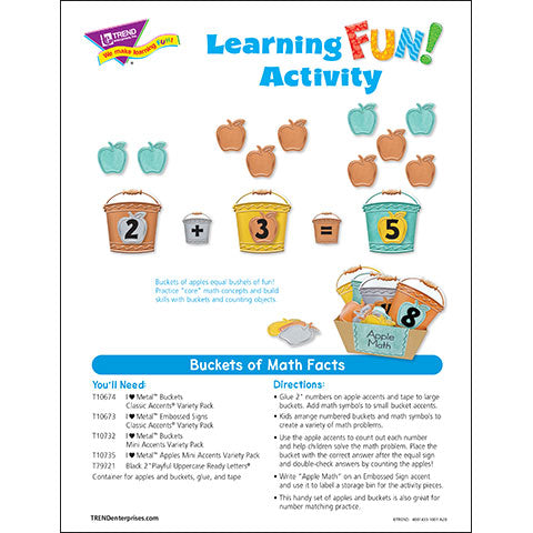 Bucket of Math Facts Learning FUN Activity