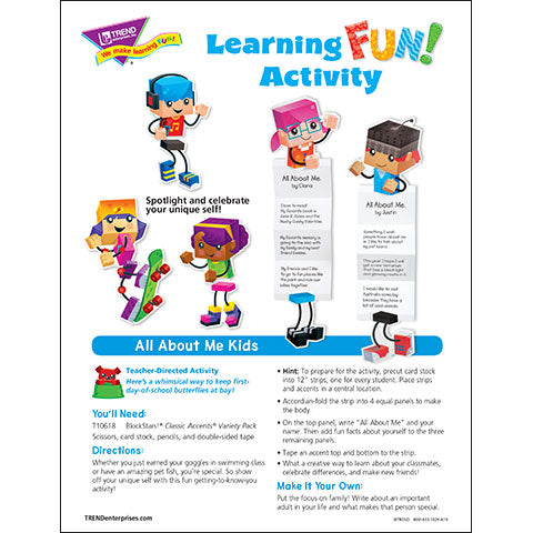 All About Me Kids Learning FUN Activity
