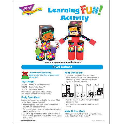 Pixel Robots Learning FUN Activity