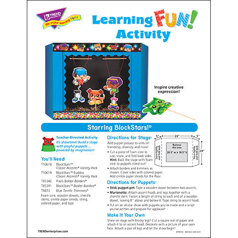 Starring BlockStars!® Learning FUN Activity