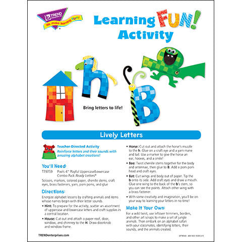 Lively Letters Learning FUN Activity