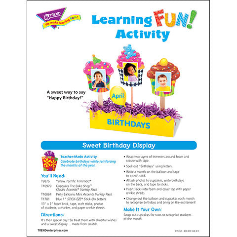 Sweet Birthday Display Learning FUN Activity