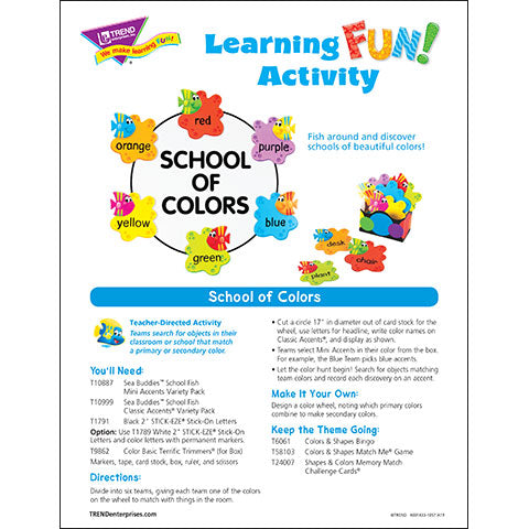 School of Colors Learning FUN Activity