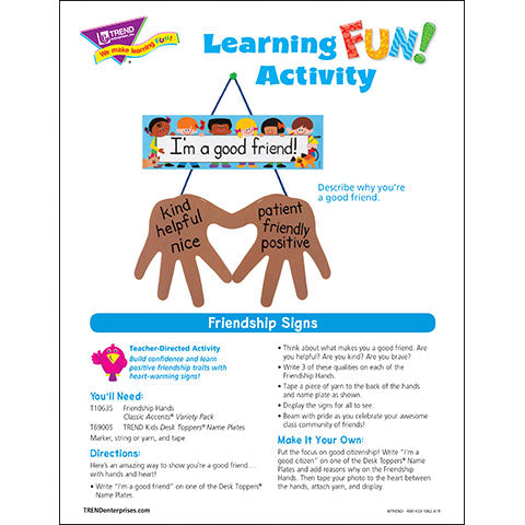 Friendship Signs Learning FUN Activity