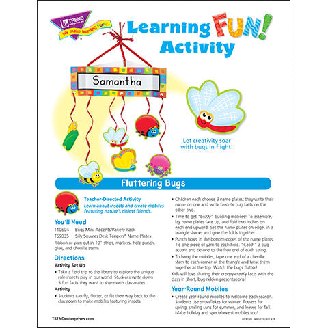Fluttering Bugs Learning FUN Activity