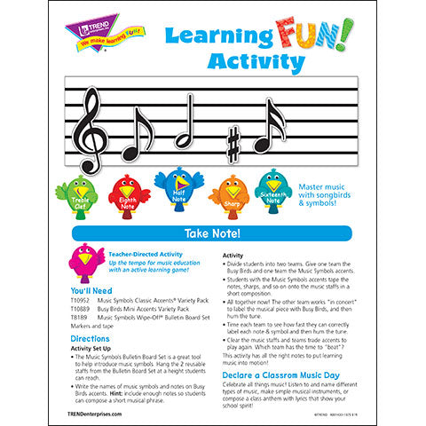Take Note! Learning FUN Activity