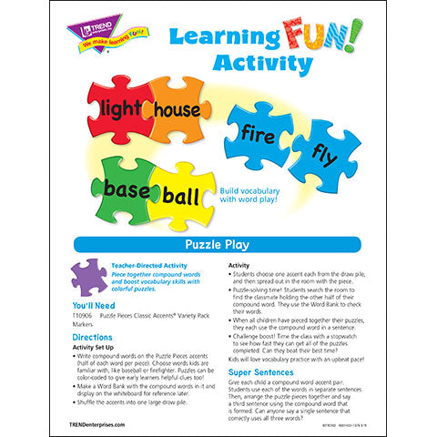 Puzzle Play Learning FUN Activity
