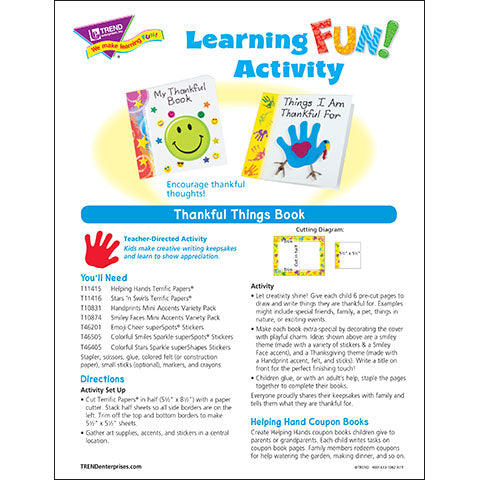 Thankful Things Book Learning FUN Activity