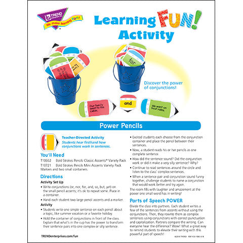 Power Pencils Learning FUN Activity