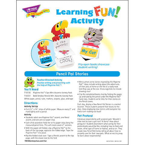Pencil Pal Stories Learning FUN Activity