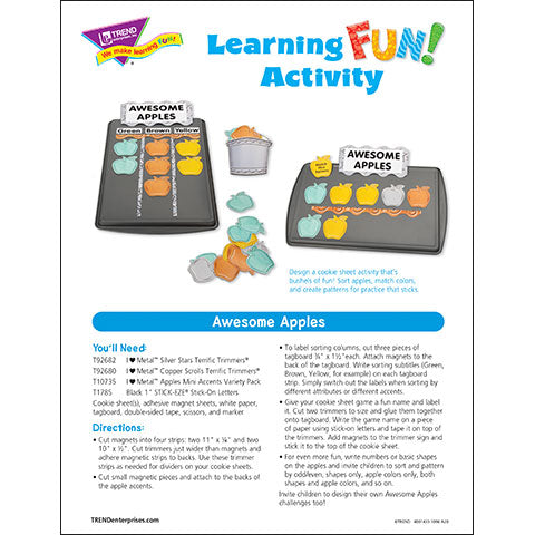 Awesome Apples Learning FUN Activity