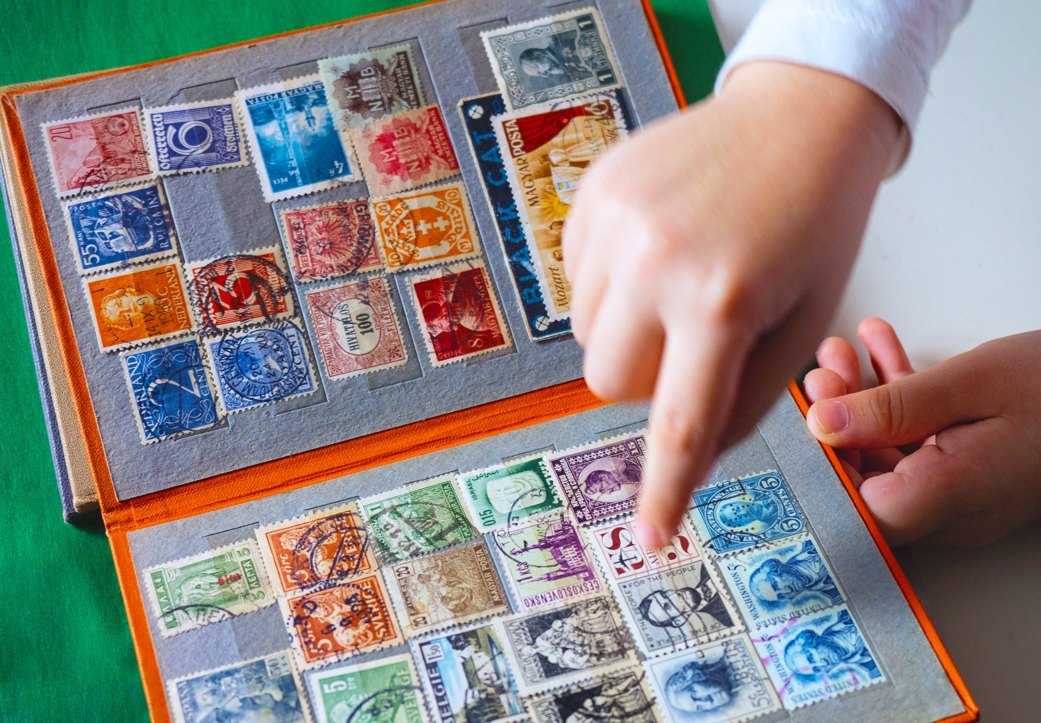 5 Ways Kids' Collections Build Lifelong Skills. Benefits of collections for children, stamp collection.