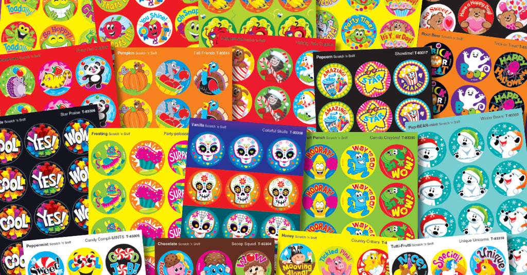 stickers collector scratch 'n sniff stinky trend stickers