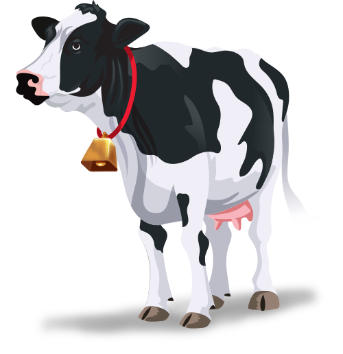 Cow image from On Track Three Corner Card game by TREND