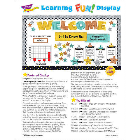 I ♥  Metal™ Wipe-Off® Welcome Bulletin Board Idea
