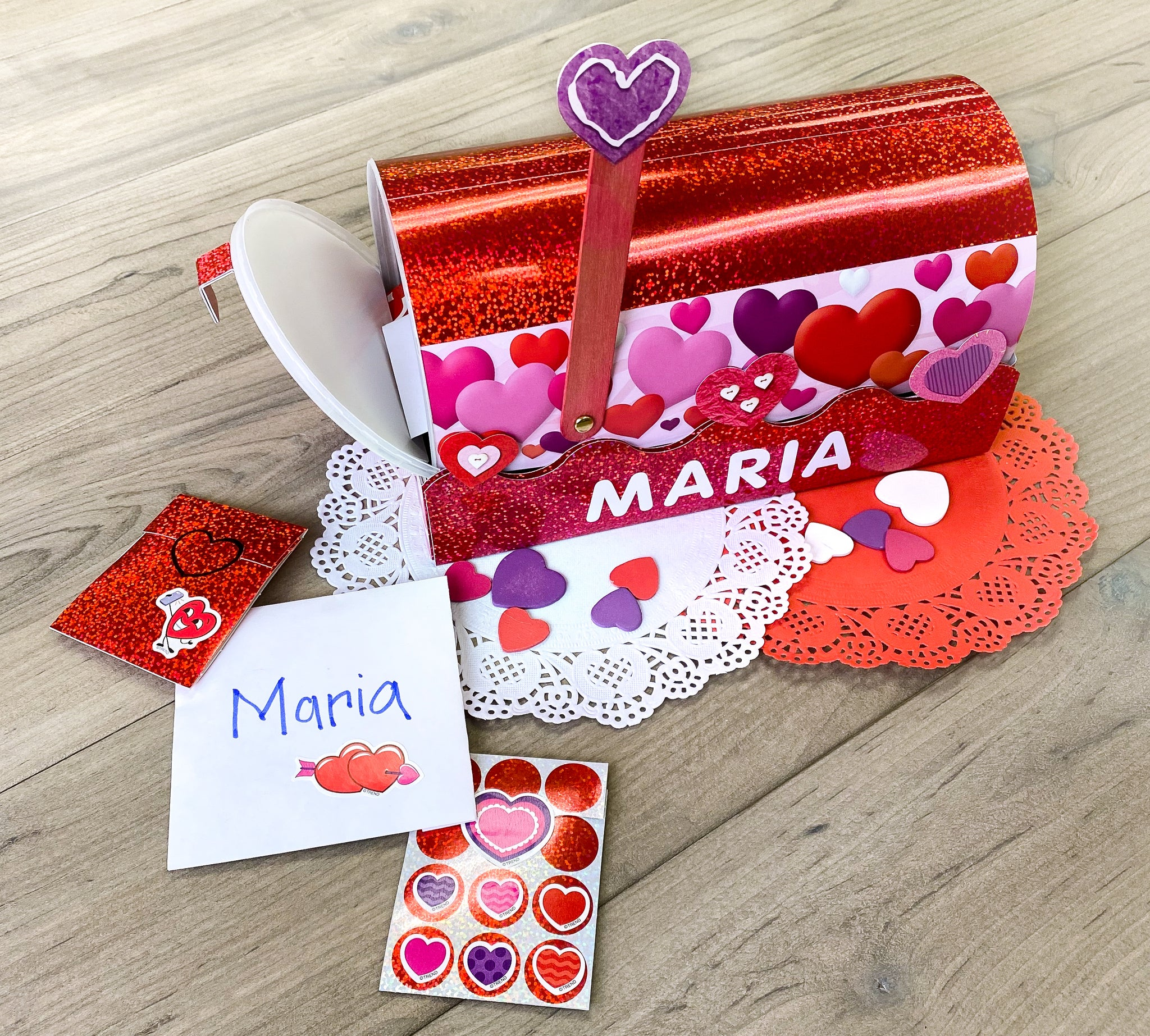Valentines card box ideas DIY party mailbox