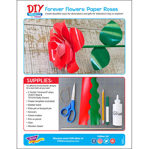 Forever Flowers: Paper-crafted Roses DIY