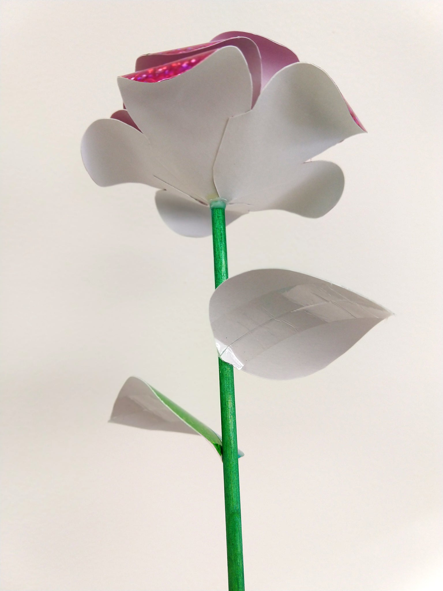 how to make DIY paper roses for Valentines Day