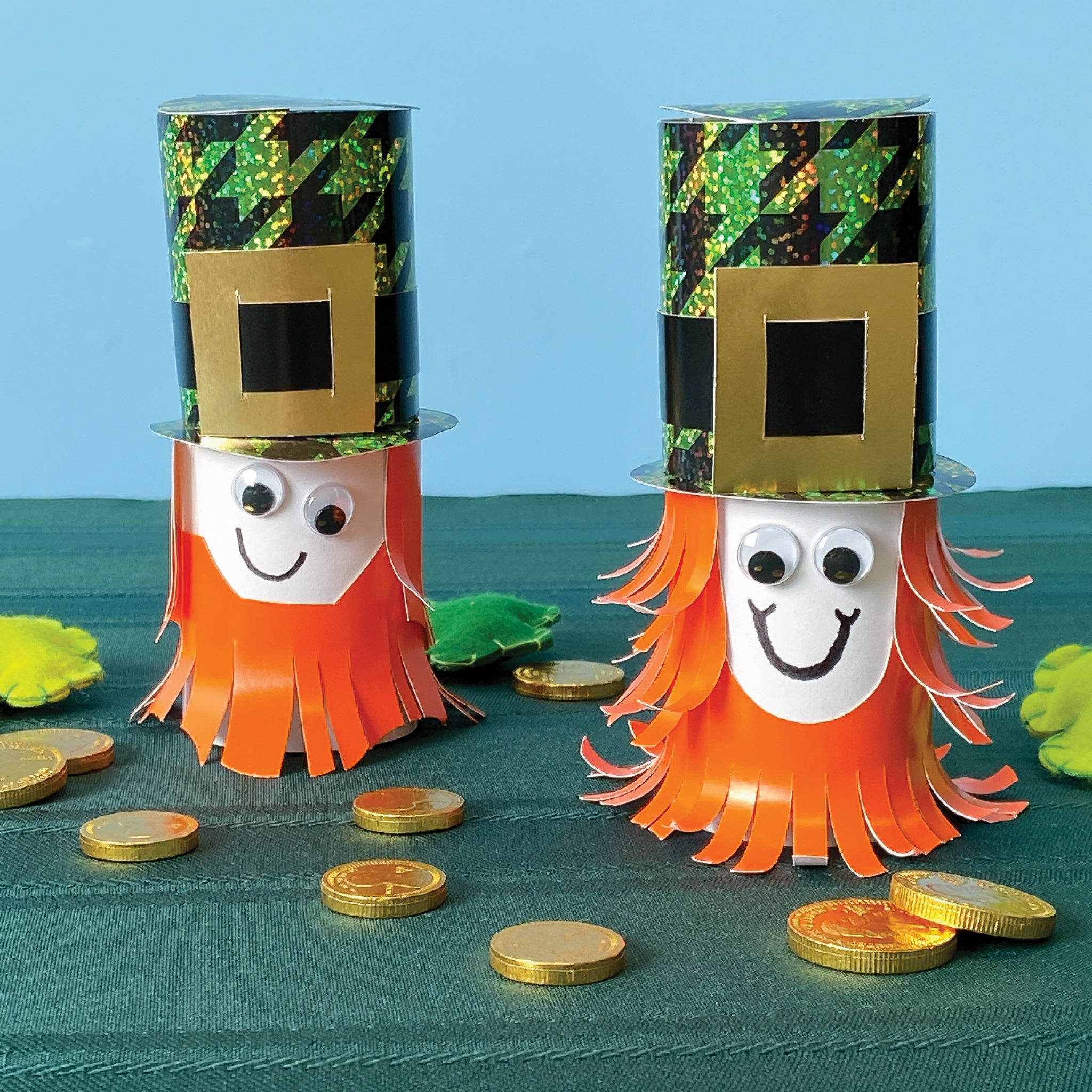 fun easy kid project for st. patrick's day leprechaun paper diy