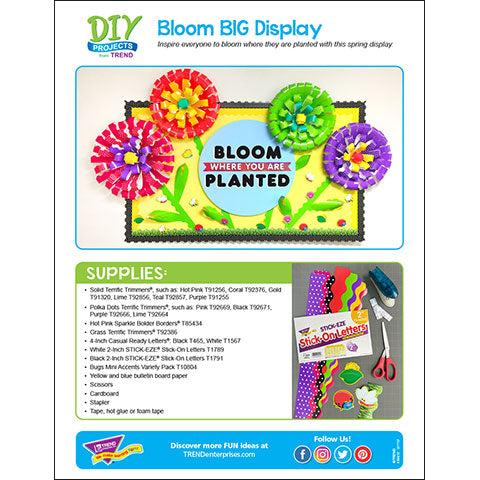 Bloom BIG Spring Flower Bulletin Board DIY