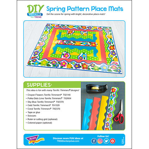 Spring Pattern Place Mats DIY