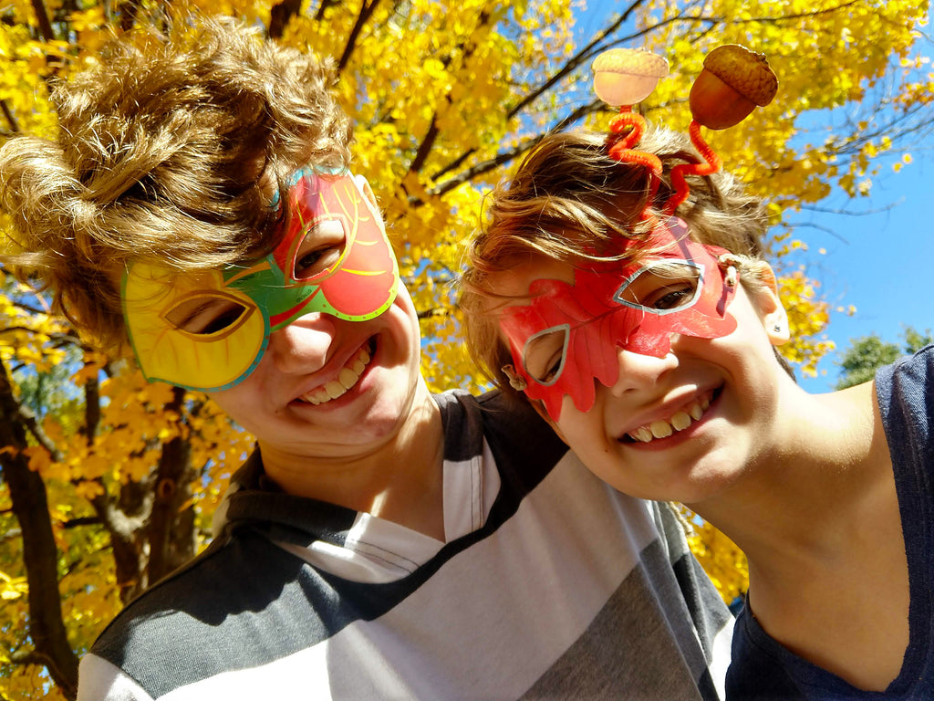fall autumn leaf leaves projects for kids diy masks