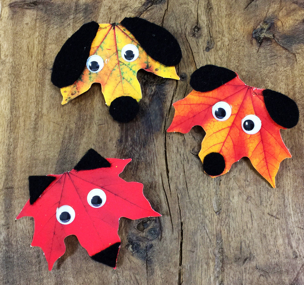 fall autumn leaf leaves projects for kids dogs