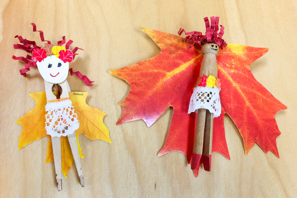 fall autumn leaf leaves projects for kids fairies diy