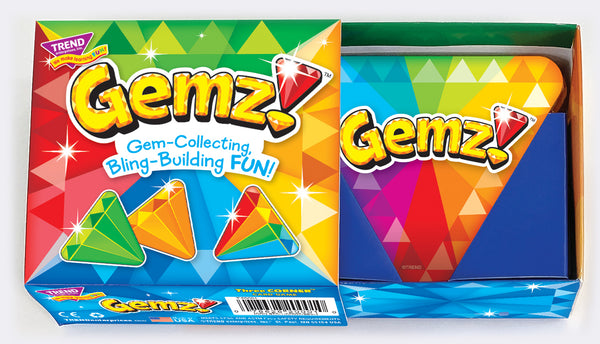 Gemz!™ triangle shaped card game for all ages