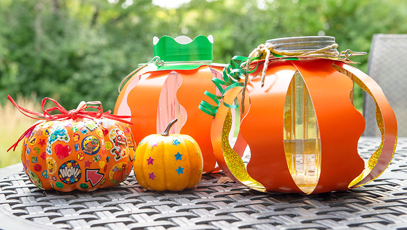 DIY kid project pumpkin decorations for Halloween