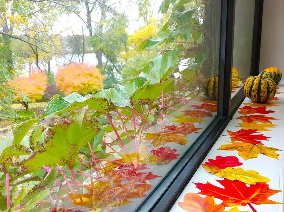 easy fall leaf centerpiece diy paper precut leaves