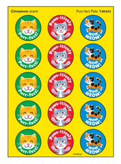Purr-fect Pets, Cinnamon scent Scratch 'n Sniff Stinky Stickers® – Large Round