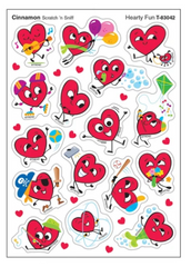 Hearty Fun, Cinnamon scent Scratch 'n Sniff Stinky Stickers® – Mixed Shapes